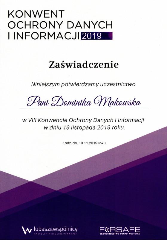 Konwent Ochrony Danych I Informacji 2019